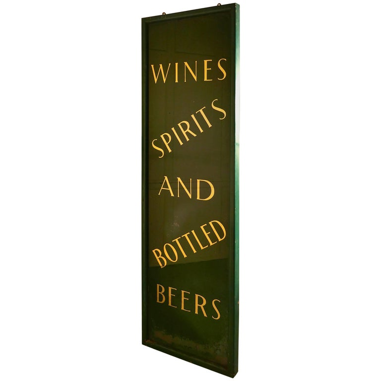19th Century Pub Mirror Advertising Sign For Sale