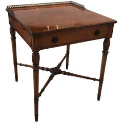Rosewood Gallery Top Table with Pull Side Trays