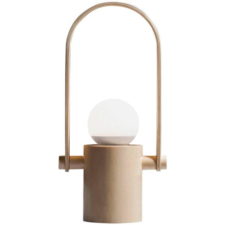 Handcrafted Hanging Lantern Lamp in Brazilian Contemporary Design For Sale