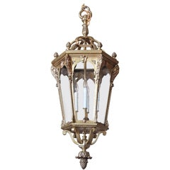 Early 19th Century French Louis XV Gilt Bronze Lantern