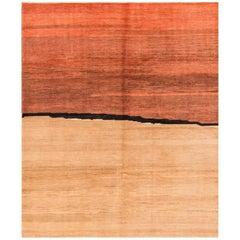 21st Century Contemporary Beige/Earth Tone Persian Gabbeh Carpet