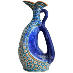 Beautiful Sculptural Italian Ceramic Vase by C.A.S. Vietri, 1950s