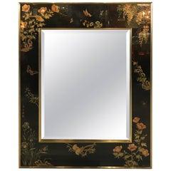 Labarge Hand-Painted Églomisé Mirror