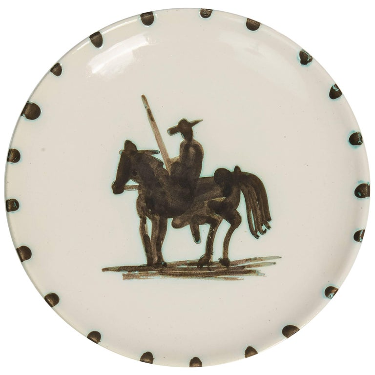 Pablo Picasso Pottery 'Picador' Plate, Limited Edition 1952