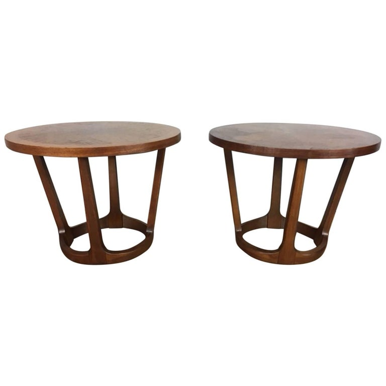 Adrian Pearsall Style Side Table Pair by Lane