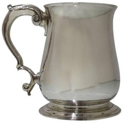 Antique Sterling Silver George II Pint Mug London 1743 William Williams