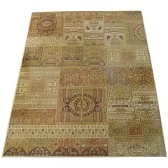 Extra-Large Midcentury Rug with Old Eastern Motives in Modern Coloring