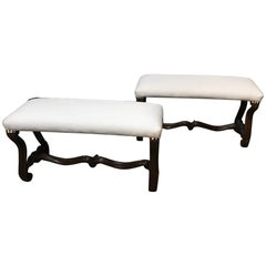 Pair of French Louis XIII Style Benches
