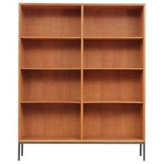 Mid Modern Scandinavian Bookcase in Oak by Børge Mogensen for FDB Møbler