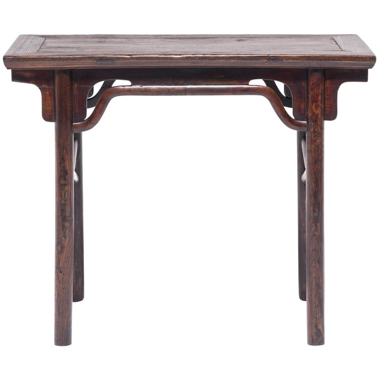 Chinese Wine Table with Crossed Stretchers