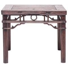 Chinese Square Chrysanthemum Table