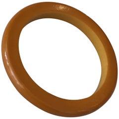 Heavy Butterscotch Bakelite Bangle Bracelet