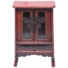 Chinese Petite Butterfly Jewelry Chest