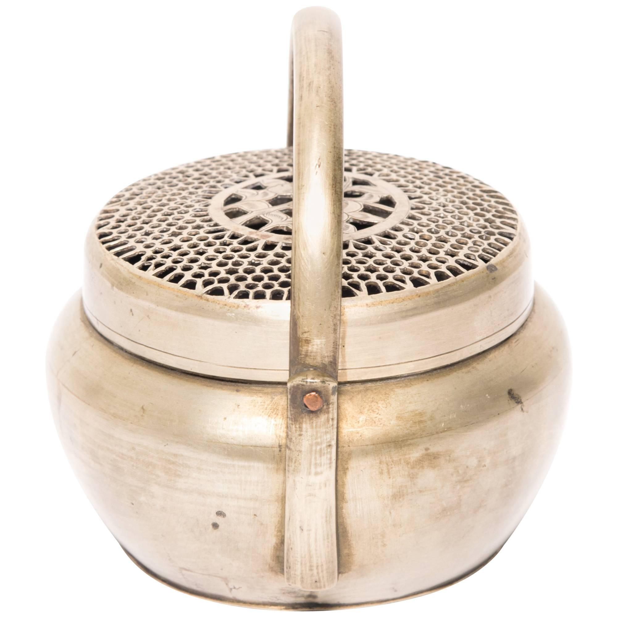 Chinese Brass Longevity Brazier