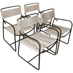 Four Tubular Bronze Armchairs by Walter Lamb for Brown Jordan