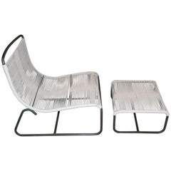 Sleigh Lounge Chair and Ottoman by Walter Lamb for Brown Jordan