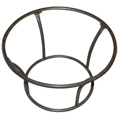 Round Tubular Bronze Side Table by Walter Lamb for Brown Jordan