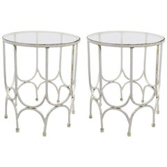 Pair of Wrought Iron Tables in the Style of Salterini