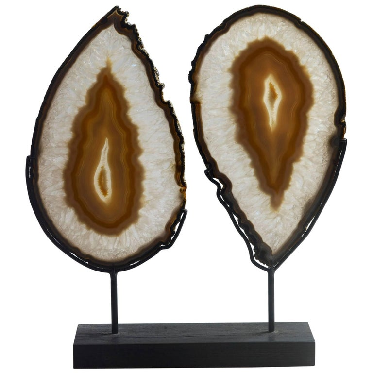 Lovely Pair of Matched Agate Slices