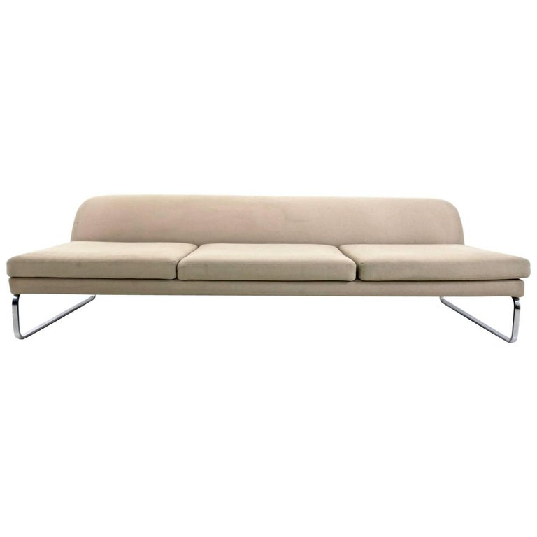 Italian Sofa Brent Cross: California Design Walnut Based Sofa With Silk-bronze