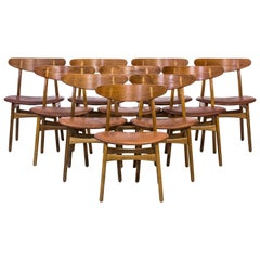 Set of Ten CH30 Dining Chairs by Hans J. Wegner