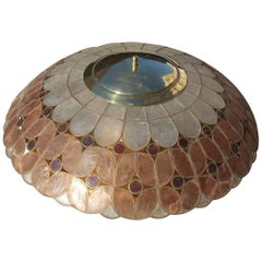 Mother-of-Pearl Ceiling Lamp Made Entirely by Hand Old Design