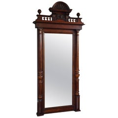Sizeable Antique 19th Century Distressed Mirror in Original Mahogany Frame
