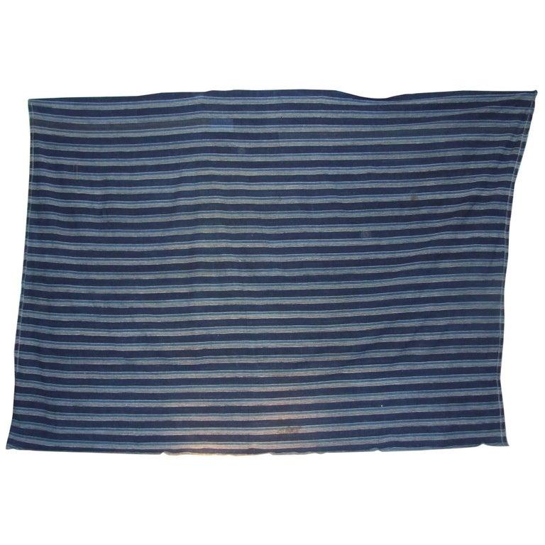 Ivory Coast Hand Spun Cotton Natural Indigo Cloth