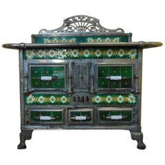 Range Cooker Tiled with Matching Coal Scuttle, circa 1900