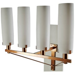 Monumental Wall Lamps, Anonymous, Sweden, 1950s