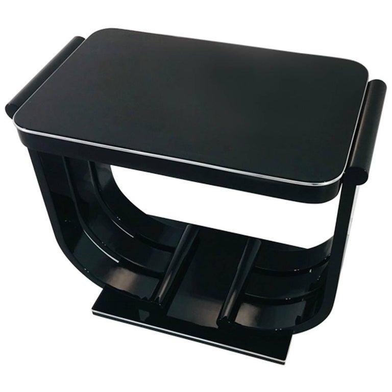 Art Deco Piano Lacquer Console Table