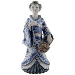 Large, Rare Hjorth 'Bornholm' Glazed Stoneware Figure, Japanese, G. Kudielka
