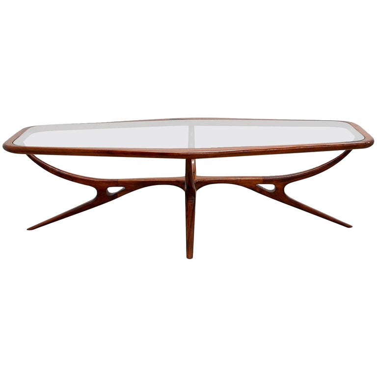1960s Coffee Table, Giuseppe Scapinelli, Brazilian Mid-Century Modern