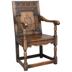 Early 20th Century Oak Wainscot Chair