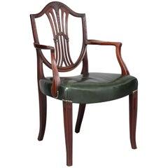 Early 19th Century Mahogany Hepplewhite Armchair