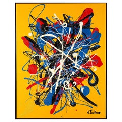 Contemporary Abstract Acrylic Painting by Joël Fautous