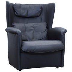 De Sede DS 23 Designer Armchair Leather Black One Seat Couch Modern
