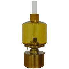 L47 Hans-Agne Jakobsson Kerosene Oil Lamp in Brass and Glass