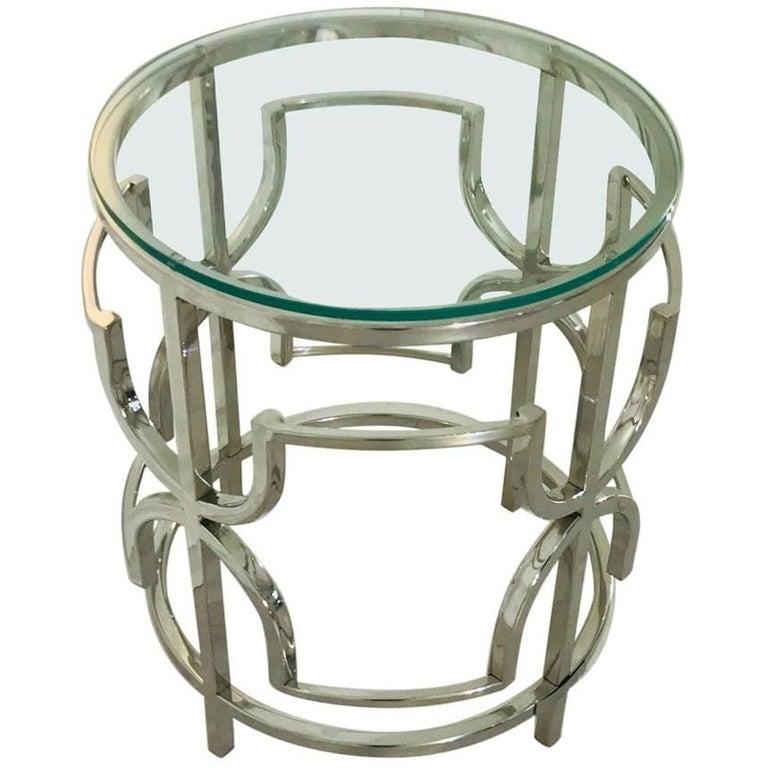 Chromed Bauhaus Side Table