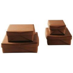 """Rettangolare"" Leather Box Designed by Oscar Maschera"
