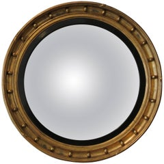 Large 19th Century Convex Mirror