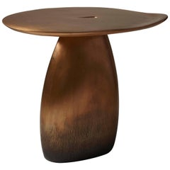"Bronze Side Table / Gueridon ""Ellipse"" by Designer Hoon Moreau"