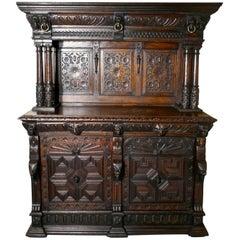 18th Century Carved Oak Buffet Sideboard Dresser