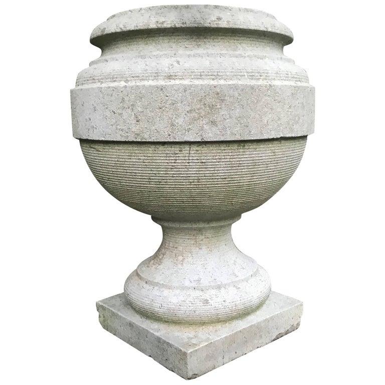 19th Century, Wonderful Shape Antique Granite Garden Urn / Vessel / Vase / Pot