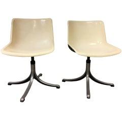 Pair of Tecno Modus Chairs Designed by Osvaldo Borsani