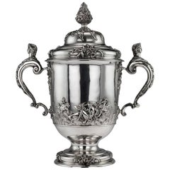 20th Century Edwardian Monumental Solid Silver Cup and Cover, Hancock & Co