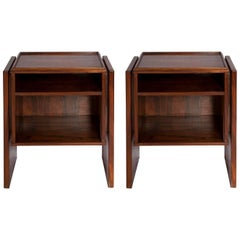 Pair of Brazilian Rosewood Side Table by Joaquim Tenreiro