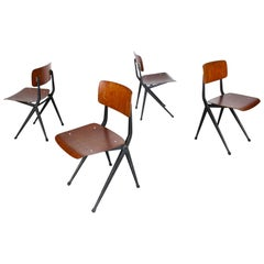 Set of Four Industrial Design Dining Chairs by Marko Friso Kramer Style