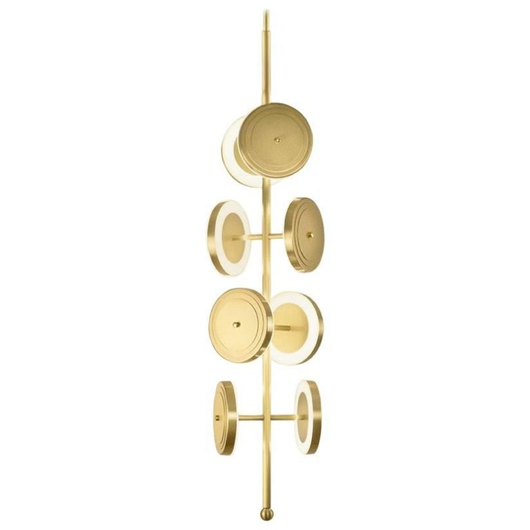 Le Royer Chandelier in Satin Brass by Larose Guyon