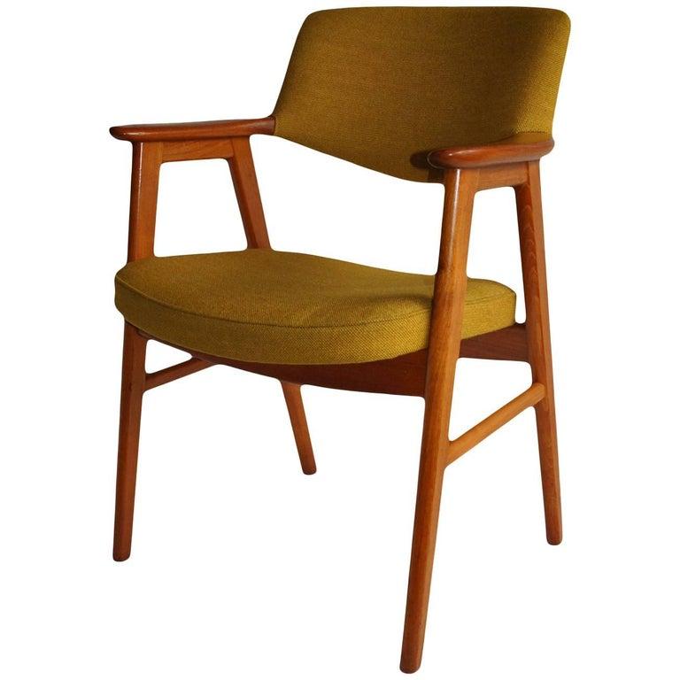 Erik Kirkegaard Teak Desk Chair For